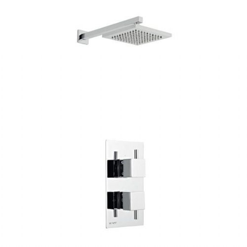 Kartell Pure Mixer Shower Thermostatic Concealed Valve Fixed Shower Head Chrome